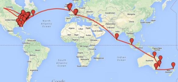 Random Acts of Art Adventure Wraps Up International Tour!   6 Degrees of Creativity
